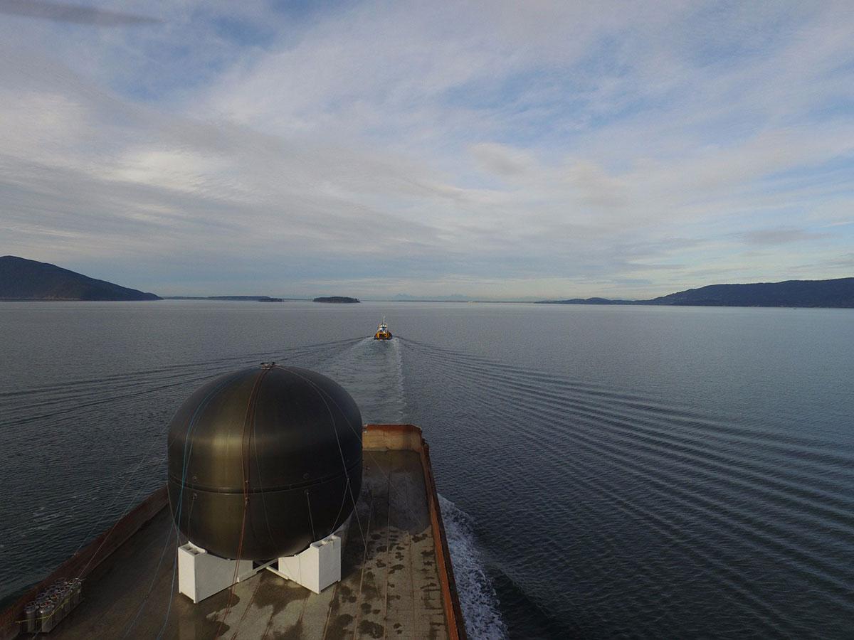 SpaceX ITS Tank Sea Test
