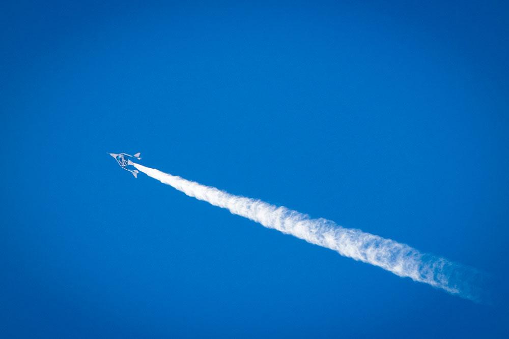 SpaceShipTwo Ballast Test Flight